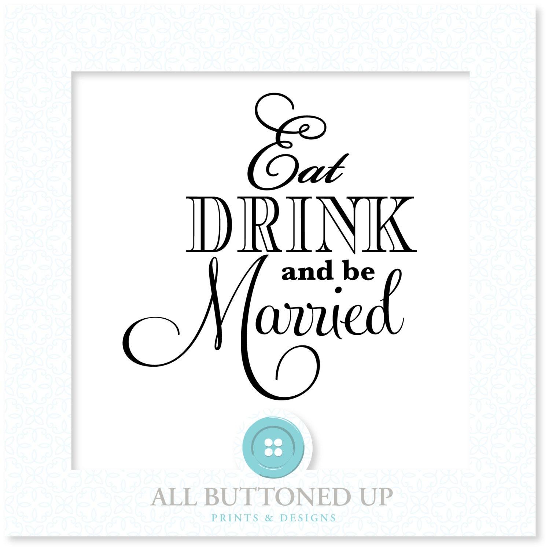 Eat Drink & be Married digital cut file: svg dxf eps jpg