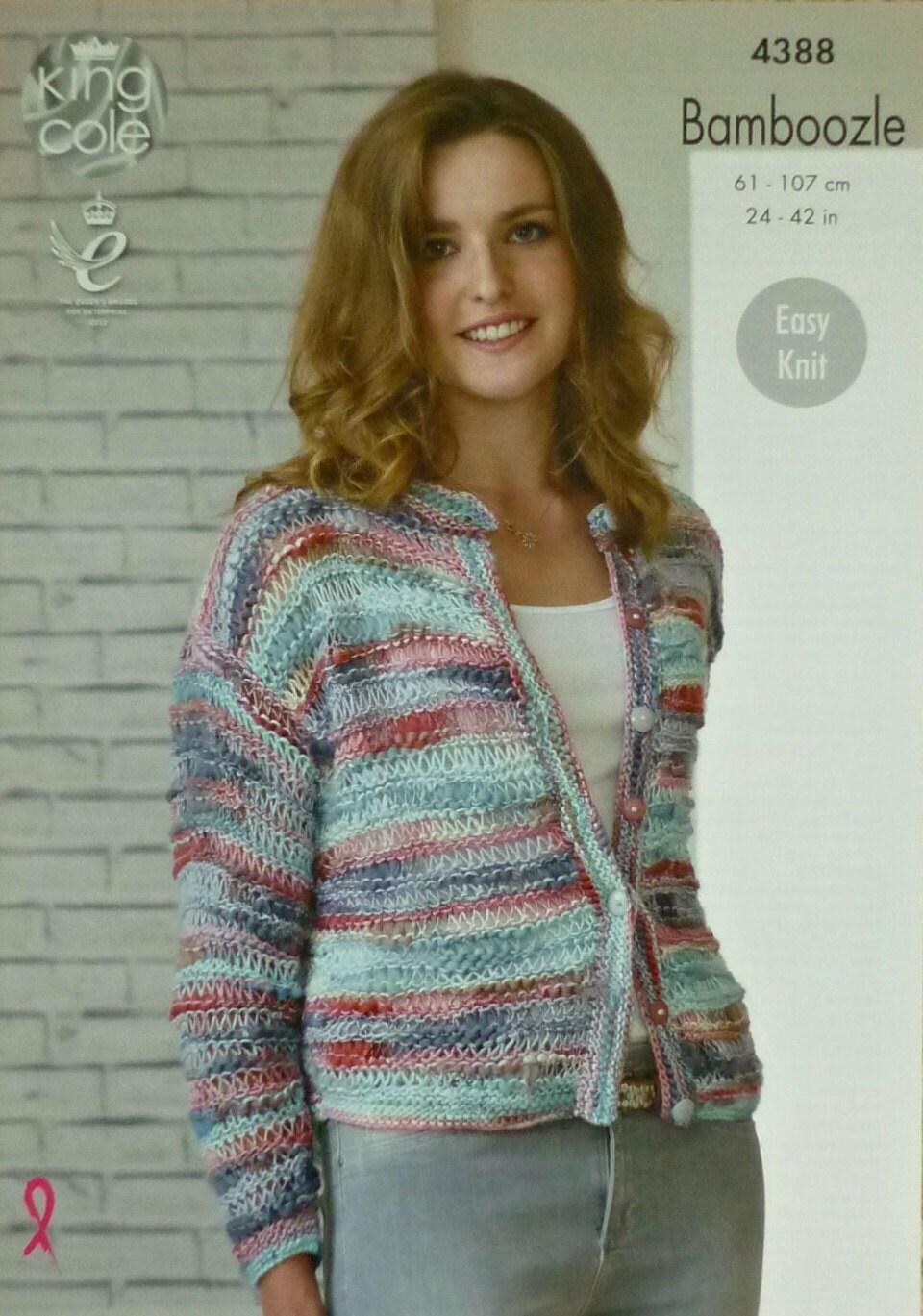 Womens Knitting Pattern K4388 Ladies/Childrens Long Sleeve Easy Knit ...