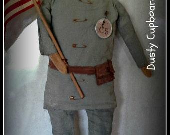 """Civil War Soldier #2 Doll 18"""" Epattern"""