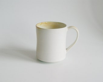 Pottery Cup Handmade Stoneware Mug White Ceramic handmade cup White Ceramic tea cup Unique pottery cup Coffee Lovers
