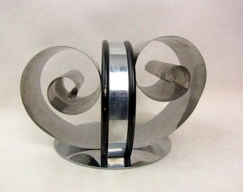 Mid Century Chrome Letter Holder | Art Deco | Book Holder | Office Supply | Large | Adjustable