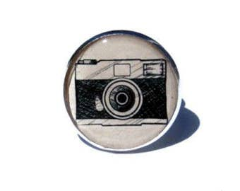 Camera Ring - Photography Ring - Photographers ring - photographer gift - kitsch ring - unique ring - cute ring - vintage style - for her