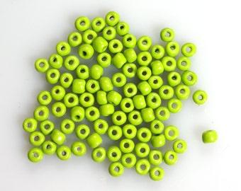 Size 5/0 Apple Green Vintage Venetian Seed beads 10 Grams