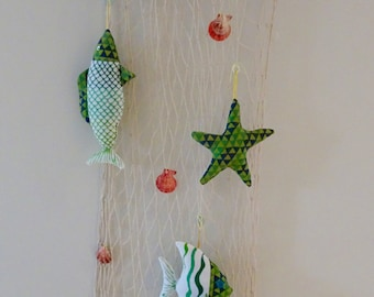 Sea Creature Wall Decoration, Beach Home Decor, House Warming Gift, Sealife Nursery Theme, Nautical Wall Hanging, Sea Themed Nursery