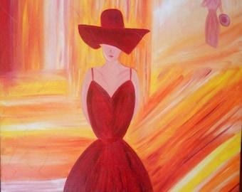 Oil on canvas painting: Elegance