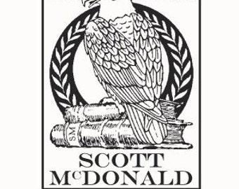 Eagle  Ex Libris Bookplate Rubber Stamp F24