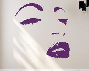 Posing Girl Vinyl Wall Decal
