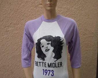 Size Women's S (35) ** Dated 1973 Bette Midler Shirt (Deadstock Unworn) (Single Sided)