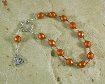 Prometheus Pocket Prayer Beads: Greek Titan God of Forethought, Advisor of Mortals, Giver of the Gift of Fire