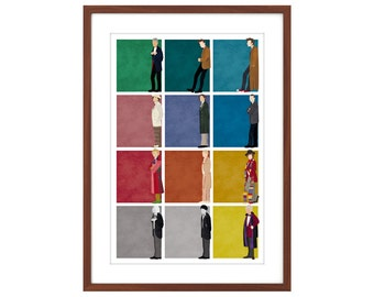 24x36 Doctor Who poster - All 12 Doctors