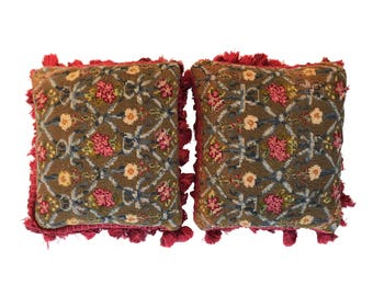 A Pair of 18th century French Needlepoint Pillows