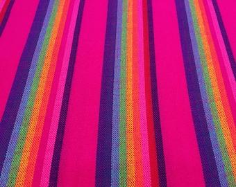 Mexican Senka Magenta w rainbow stripes Wrap 5,5 yards Baby carrier