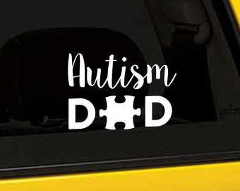 Autism Decal, Autism Dad Autism Gift, Puzzle Piece Vinyl Sticker