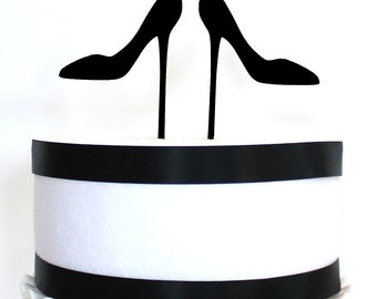 High Heels Cake Toppers, wood cake topper, acrylic cake topper, High heel shoes, bridal shower, wedding cake topper
