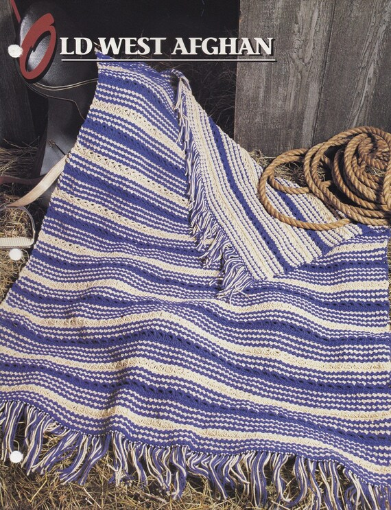 Old West Afghan Annies Attic Broomstick Lace Crochet