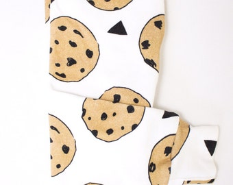 Cookies leggings, baby boy leggings, baby girl leggings, organic leggings, food, baby pants, dessert leggings, organic baby, chocolate chip