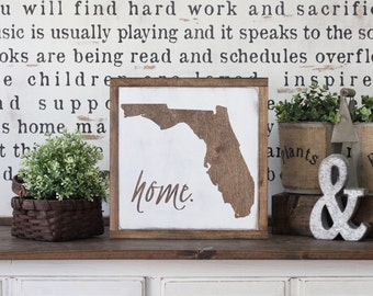 Home State Wood Sign, Home Town Sign, State Sign, Wood State Art, Hand Painted Rustic Home Decor, Wall Art