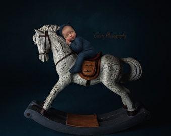 newborn digital backdrop , rocking horse digital backdrop