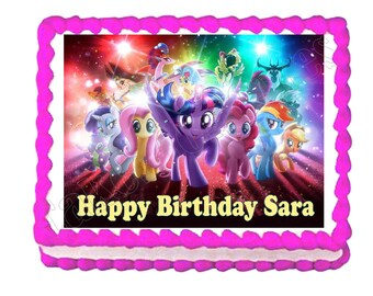 My Little Pony party decoration edible cake image cake topper frosting sheet