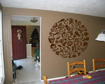 Wall Decal Room Sticker healthy organic healthy style food life diet  bo3053