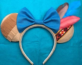 Blue Pocahontas inspired mickey ears!