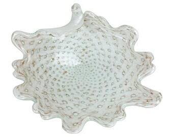 Murano Freeform Copper Aventurine Bowl
