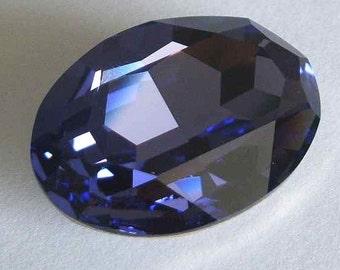 1 SWAROVSKI 4127 Sparkling Oval Crystal Fancy Stone 30mm TANZANITE