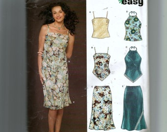 New Look Misses' Skirt and Top Pattern 6437