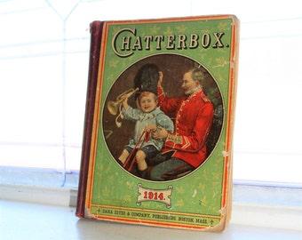 Antique Children's Book Chatterbox 1914