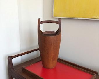 Mid Century Danish Modern Dansk Teak Ice Bucket