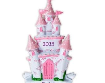 Custom Castle Ornament, Cute Castle Ornament, Girly Princess Ornament