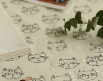 Laminated Cotton Fabric - Meow Meow- By the Yard 88702