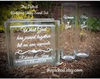 Religious-Unity Ceremony-Sand-Set-Bride and Groom-Wedding-Mark 10:9-Faith-Marriage-Commitment-TPUWUS2