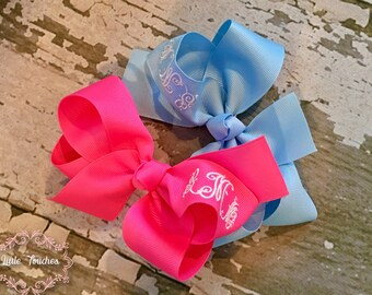 Monogrammed Hair Bow, Initial Hair Bow, Baby Hair Bow, Girls Hair Bow, Specialty Hair Bow