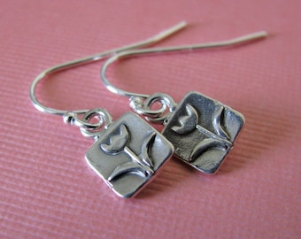 sterling silver tulip earrings