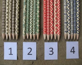 pencils florentine paper set of 5 pencils with eraser pencils marbled paper