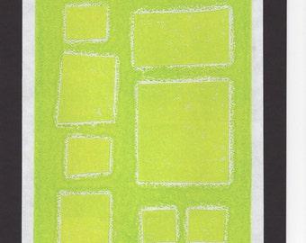 Original Monotype Geometric Print