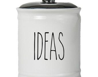 Ideas Word Jar With Lid - Money Coin Jar - Money Bank - Money Jar - Money Jar With Lid