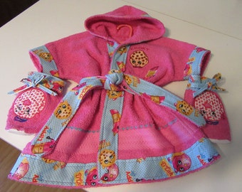 Personalized/Custom Baby/Toddler Robe Sizes Small, Med and Large