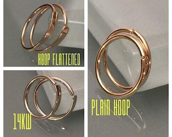 14k Nose Ring, 14k Hoop Earrings, 14k Gold Nose Ring, 14k Cartilage Hoop Earring, 14k Helix Piercing, 14k Tragus Piercing, 14k Nose Hoop