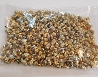 Mixed Lot of Gold tone and Silver tone  Beads
