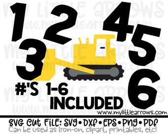 Birthday bulldozer svg | construction svg | construction party svg | construction birthday shirt | construction dxf | construction iron on