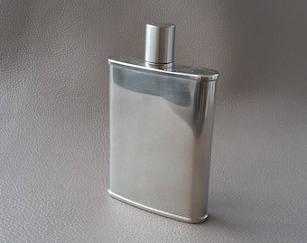 Hip flask, Vintage stainless hip flask, stainless steel, pocket flask, drink flask, flask, drinking flask,