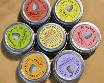 Pioneer Soap Co. Lip Balm: 6 Varieties