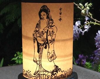 Candle Holder-Shoji Lantern-new mother gift-altar candle-KuanYin-Quan Yin-Goddess-Compassion-Mother Earth-Shakti-Tara-Shrine-Shrine Lighting