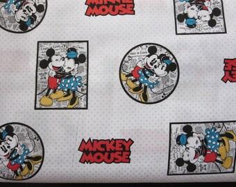 Disney-Mickey & Minnie Framed Fabric