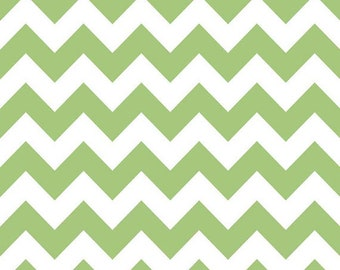 Riley Blake Designs Medium Chevron Green C320-30 One Yard