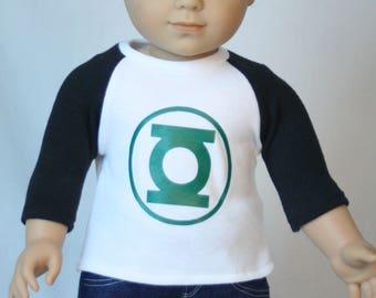 "Super Hero T Shirt, 18"" Boy Doll Clothes, Fit American Boy Doll,  18 inch Doll Clothes, 18 inch boy doll, made to fit American Boy Doll"