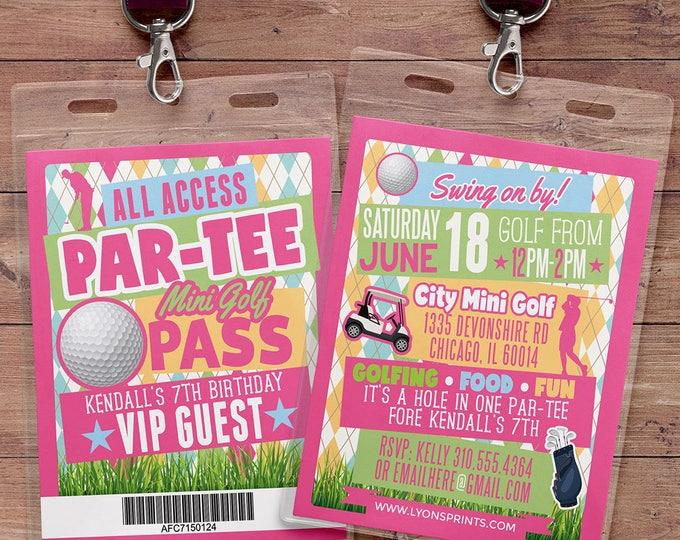 Miniature Golf Invitation , Golf Party Invite, Golf Birthday Invitation, hole in one invitation, boy birthday, girl birthday, Digital files