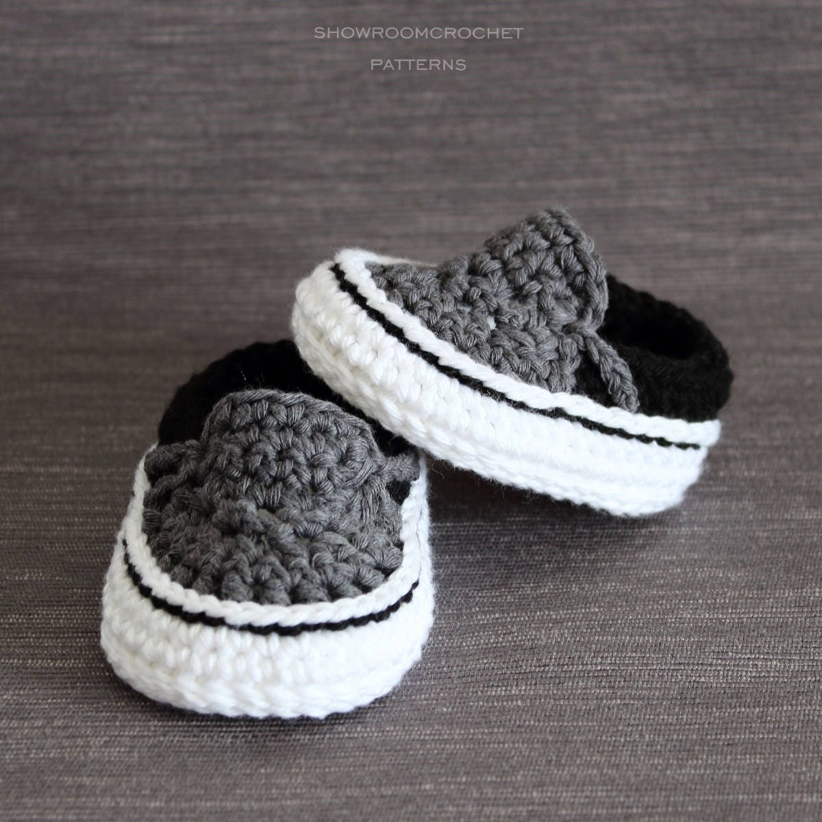 Crochet pattern vans style baby sneakers instant download zoom fandeluxe Images